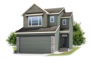 Stanton 1 - Urban Farmhouse A1 Elevation - 1,662 sqft, 3 Bedroom, 2.5 Bathroom - Cardel Homes Calgary