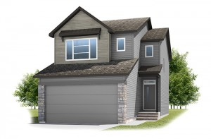 Stanton 2 - Urban Farmhouse A1 Elevation - 1,662 sqft, 3 Bedroom, 2.5 Bathroom - Cardel Homes Calgary