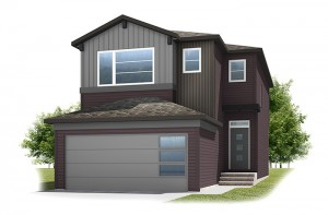 Stanton 2 - Urban Craftsman A2 Elevation - 1,662 sqft, 3 Bedroom, 2.5 Bathroom - Cardel Homes Calgary