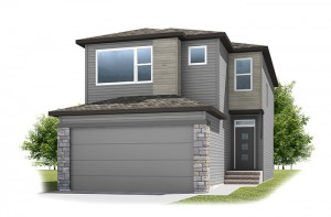 Stanton 2 - Urban Prairie A3 Elevation - 1,662 sqft, 3 Bedroom, 2.5 Bathroom - Cardel Homes Calgary