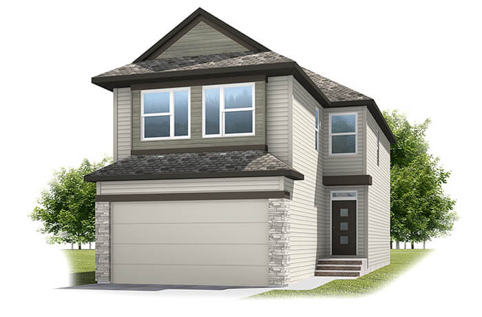 Birkhill - Urban Prairie A1 Elevation - 2,007 sqft, 3 Bedroom, 2.5 Bathroom - Cardel Homes Calgary