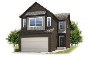 Birkhill - Urban Farmhouse A2 Elevation - 2,007 sqft, 3 Bedroom, 2.5 Bathroom - Cardel Homes Calgary
