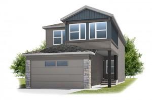 Emerge - Urban Craftsman A1 Elevation - 1,994 sqft, 3 Bedroom, 2.5 Bathroom - Cardel Homes Calgary