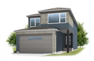 Emerge - Urban Prairie A2 Elevation - 1,994 sqft, 3 Bedroom, 2.5 Bathroom - Cardel Homes Calgary