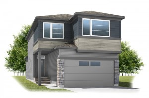 Strand - Urban Prairie A2 Elevation - 1,903 sqft, 3 Bedroom, 2.5 Bathroom - Cardel Homes Calgary