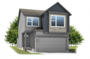 Strand - Urban Farmhouse A3 Elevation - 1,903 sqft, 3 Bedroom, 2.5 Bathroom - Cardel Homes Calgary