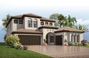 Palazzo - Mizner Elevation - 3,730 - 3,788 sqft, 3 - 5 Bedroom, 3 - 4 Bathroom - Cardel Homes Tampa