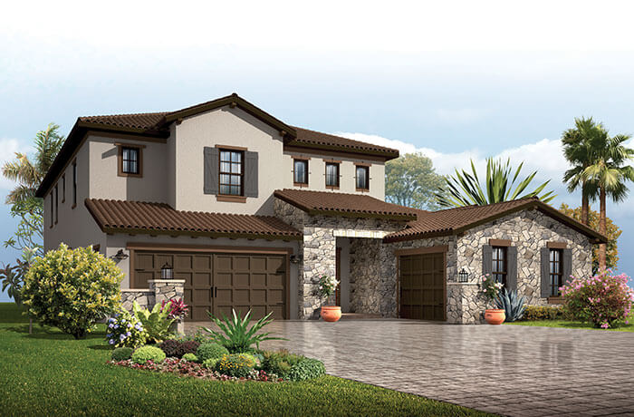 Palazzo - Tuscan Elevation - 3,730 - 3,788 sqft, 3 - 5 Bedroom, 3 - 4 Bathroom - Cardel Homes Tampa