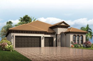Endeavor 3 CCE - Italian Villa Elevation - 2,500 - 3,108 sqft, 4 - 5 Bedroom, 3 - 4 Bathroom - Cardel Homes Tampa