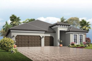 Endeavor 3 CCE - Mediterranean Elevation - 2,500 - 3,108 sqft, 4 - 5 Bedroom, 3 - 4 Bathroom - Cardel Homes Tampa