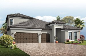 Endeavor 3 CCE - Mediterranean with Option #5 Elevation - 2,500 - 3,108 sqft, 4 - 5 Bedroom, 3 - 4 Bathroom - Cardel Homes Tampa