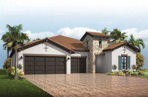 Endeavor 3 CCE - Tuscan Elevation - 2,500 - 3,108 sqft, 4 - 5 Bedroom, 3 - 4 Bathroom - Cardel Homes Tampa