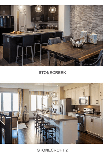 Image of Stonecreek kitchen and Stonecroft 2 kitchen in Kanata South, Ottawa by Cardel Homes. Click image to view the floorplans