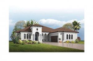 Dolcetto3ItalianVilla-700x460-2018 Elevation - 3,807 sqft, 3 Bedroom, 3 Bathroom - Cardel Homes Tampa