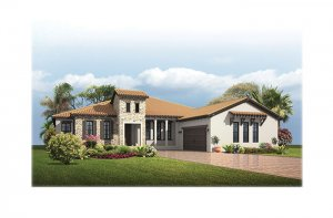 Dolcetto3Tuscan-700x460-2018 Elevation - 3,807 sqft, 3 Bedroom, 3 Bathroom - Cardel Homes Tampa