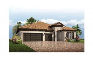 Endeavor3ItalianVilla-700x460-2018 Elevation - 2,500 - 3,108 sqft, 4 - 5 Bedroom, 3 - 4 Bathroom - Cardel Homes Tampa