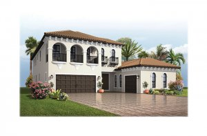 PalazzoItalianVilla-700x460-2018 Elevation - 3,730 - 3,788 sqft, 3 - 5 Bedroom, 3 - 4 Bathroom - Cardel Homes Tampa