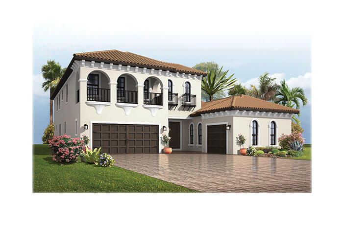 PalazzoItalianVilla-700x460-2018 Elevation - 3,730 - 3,788 sqft, 3 - 5 Bedroom, 3 - 4 Bathroom - Cardel Homes Tampa
