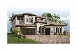 PalazzoMizner-700x460-2018 Elevation - 3,730 - 3,788 sqft, 3 - 5 Bedroom, 3 - 4 Bathroom - Cardel Homes Tampa