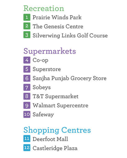 Parks, recreation facilities, supermarkets such as Sobeys and shopping centres are all very accessible to Savanna