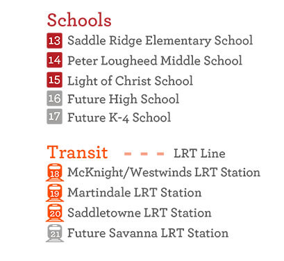 Schools and an LRT station are all easily accessible to Savanna