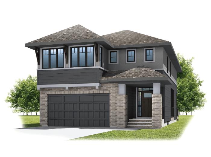 Savin - Prairie S3 Elevation - 2,589 sqft, 3 - 4 Bedroom, 2.5 Bathroom - Cardel Homes Calgary