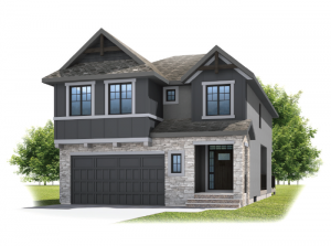 Savin - Rustic S2 Elevation - 2,589 sqft, 3 - 4 Bedroom, 2.5 Bathroom - Cardel Homes Calgary