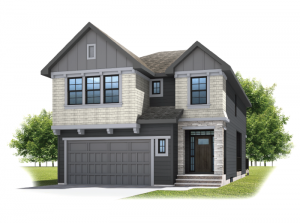 Savin - Shingle S1 Elevation - 2,589 sqft, 3 - 4 Bedroom, 2.5 Bathroom - Cardel Homes Calgary
