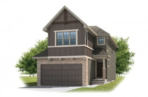 SIMCOE-SP2016 - Rustic S2 Elevation - 2,682 sqft, 4 Bedroom, 3.5 Bathroom - Cardel Homes Calgary