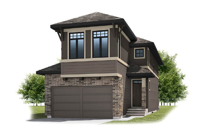 SIMCOE-SP2016 - Prairie S3 Elevation - 2,075 sqft, 3 Bedroom, 2.5 Bathroom - Cardel Homes Calgary