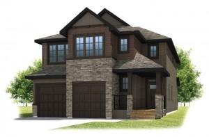 SEQUOIA-SP2016 - Shingle S1 Elevation - 2,680 sqft, 3 - 4 Bedroom, 2.5 Bathroom - Cardel Homes Calgary