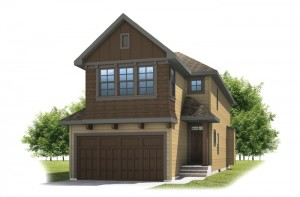 BARRET-SP2016 - Shingle S1 Elevation - 2,096 sqft, 3 Bedroom, 2.5 Bathroom - Cardel Homes Calgary