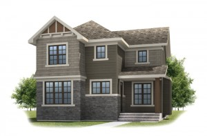 FAIRFIELD COURT-SP2016 - Shingle S1 Elevation - 2,351 sqft, 3 Bedroom, 2.5 Bathroom - Cardel Homes Calgary