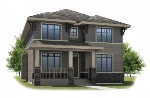 HUTTON-SP2016 - Prairie S3 Elevation - 2,445 sqft, 3 Bedroom, 2.5 Bathroom - Cardel Homes Calgary
