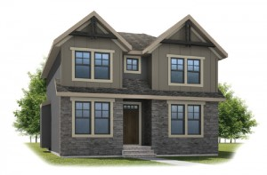 HUTTON-SP2016 - Rustic S2 Elevation - 2,445 sqft, 3 Bedroom, 2.5 Bathroom - Cardel Homes Calgary