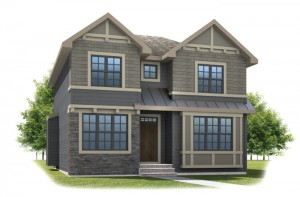 HUTTON-SP2016 - Shingle S1 Elevation - 2,445 sqft, 3 Bedroom, 2.5 Bathroom - Cardel Homes Calgary