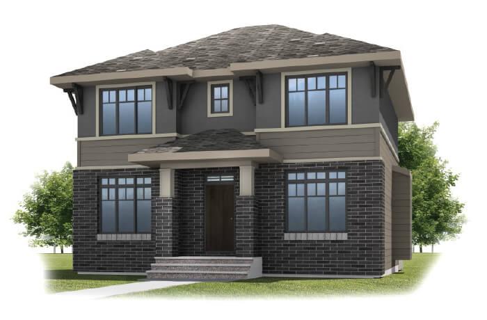 IVEY COURT-SP2016 - Prairie S3 Elevation - 2,538 sqft, 3 Bedroom, 2.5 Bathroom - Cardel Homes Calgary