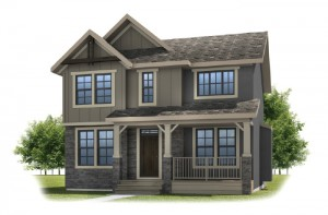 IVEY COURT-SP2016 - Rustic S2 Elevation - 2,668 sqft, 3 Bedroom, 2.5 Bathroom - Cardel Homes Calgary