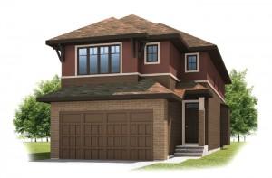 KENNEDY-SP2016 - Prairie S3 Elevation - 2,051 sqft, 3 Bedroom, 2.5 Bathroom - Cardel Homes Calgary