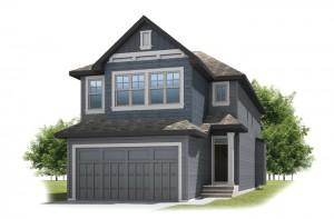 KENNEDY-SP2016 - Shingle S1 Elevation - 2,051 sqft, 3 Bedroom, 2.5 Bathroom - Cardel Homes Calgary