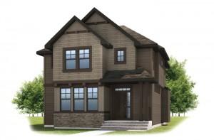 KENTON COURT-SP2016 - Shingle S1 Elevation - 2,456 sqft, 3 Bedroom, 2.5 Bathroom - Cardel Homes Calgary