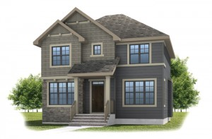 IVEY COURT-SP2016 - Shingle S1 Elevation - 2,668 sqft, 3 Bedroom, 2.5 Bathroom - Cardel Homes Calgary