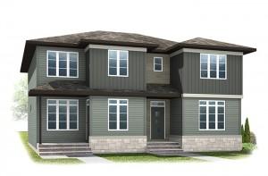 The ETON - Urban Prairie A3 Elevation - 1,405 sqft, 3 Bedroom, 2.5 Bathroom - Cardel Homes Calgary