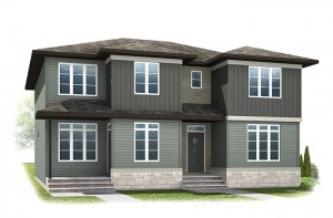 The IRIS 1 - Urban Prairie A3 Elevation - 1,516 sqft, 3 Bedroom, 2.5 Bathroom - Cardel Homes Calgary