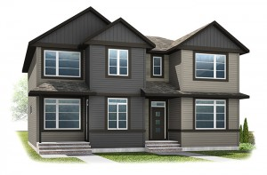 The IRIS 1 - Urban Craftsman A4 Elevation - 1,516 sqft, 3 Bedroom, 2.5 Bathroom - Cardel Homes Calgary