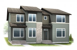 The SOHO 1 - Urban Farmhouse A1 Elevation - 1,214 sqft, 3 Bedroom, 2.5 Bathroom - Cardel Homes Calgary
