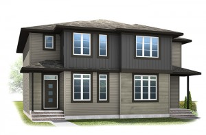 The SOHO 3 - Urban Prairie A6 Elevation - 1,201 sqft, 3 Bedroom, 2.5 Bathroom - Cardel Homes Calgary