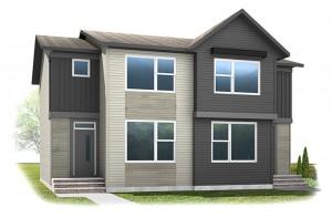 The COBALT 3 - Urban Farmhouse A5 Elevation - 1,360 sqft, 3 Bedroom, 2.5 Bathroom - Cardel Homes Calgary