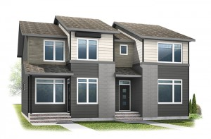 WP-COBALT 3 - Eichler F1 Elevation - 1,360 sqft, 3 Bedroom, 2.5 Bathroom - Cardel Homes Calgary