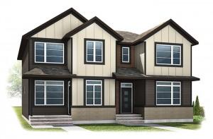 WP-INDIGO 2 - Fusion Craftsman F4 Elevation - 1,534 sqft, 3 Bedroom, 2.5 Bathroom - Cardel Homes Calgary